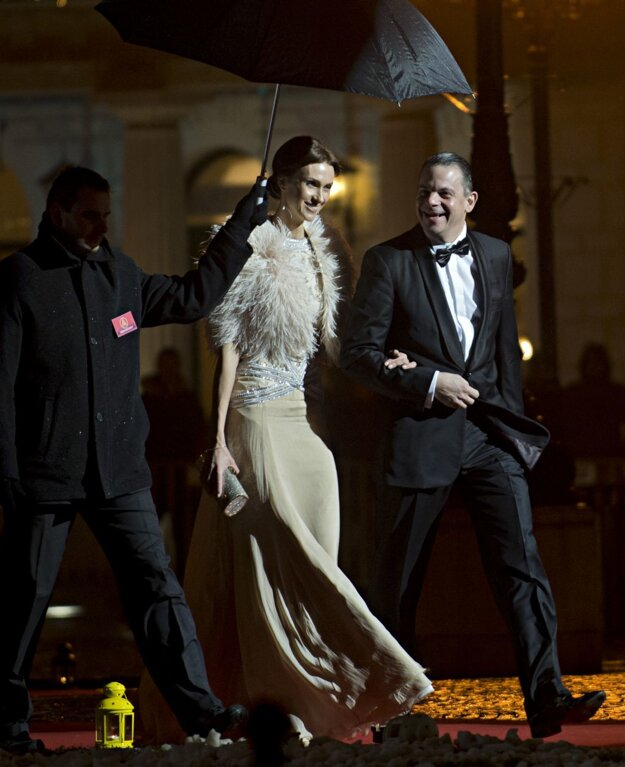 Herec Daniel Dangl s manželkou