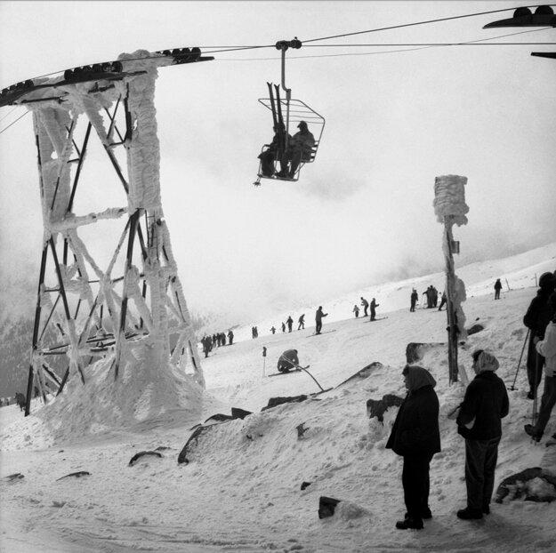 Nízke Tatry - jar 1961. O takýchto snehových podmienkach iba snívame.
