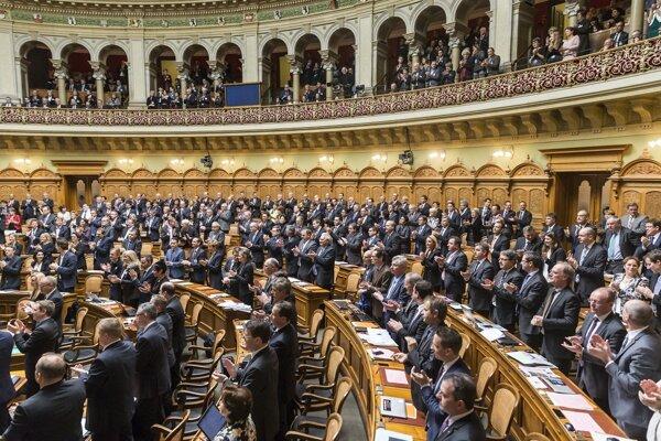 Švajčiarsky parlament.