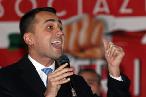 Luigi di Maio, kandidát na premiéra Hnutia piatich hviezd.