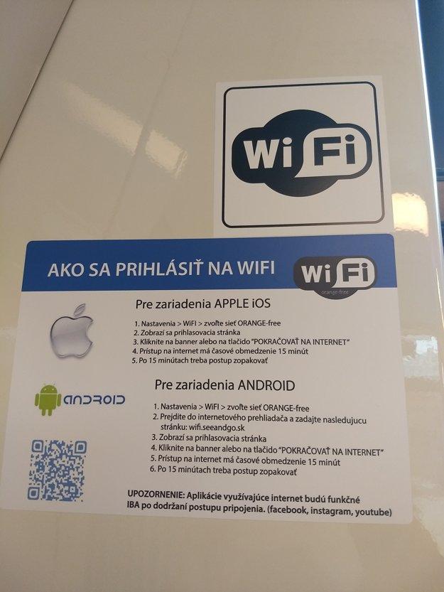 Návod na prihlásenie sa na wifi v spojoch MHD, ktoré sú ním vybavené.