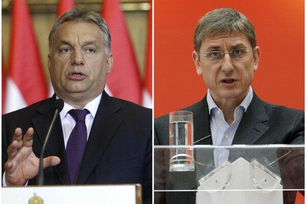 Vľavo súčasný maďarský premiér Viktor Orbán, vpravo expremiér Ferenc Gyurcsány.