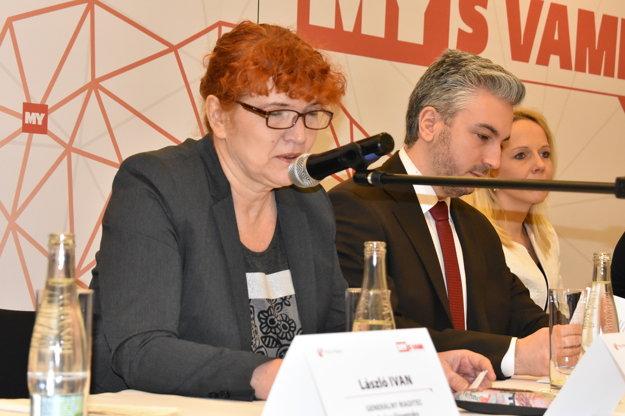 Moderátorka stretnutia so županom Košického samosprávneho kraja Jana Paulovská.