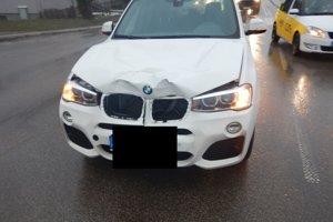 Auto krátko po nehode.
