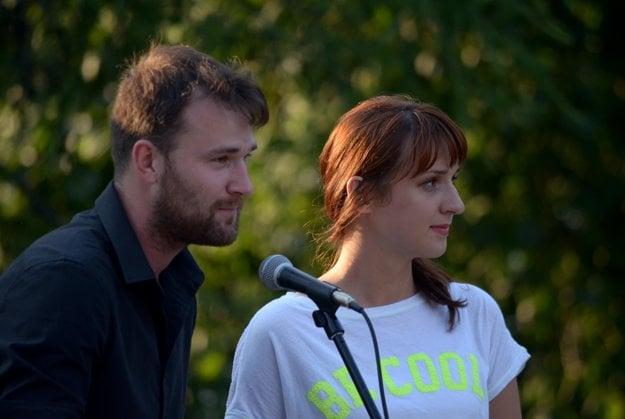 Hlavní organizátori podujatia Monika Bandúrová a Tomáš Bořuta.