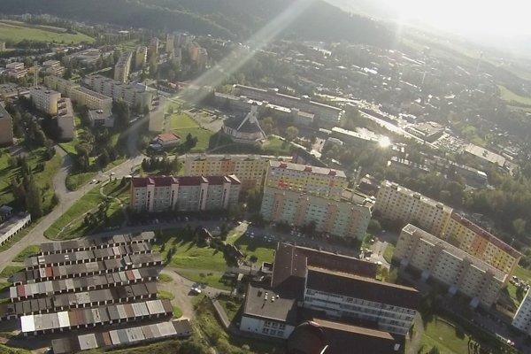 Pohľad na Dolný Kubín, najväčšie oravské mesto.