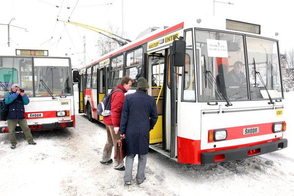 Symbolická posledná jazda trolejbusov 1. januára 2006.