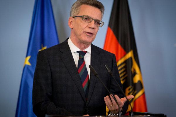 Nemecký minister vnútra Thomas Maiziere.
