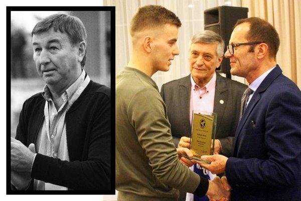 Renáto Meszlényi prebral cenu, ktorou si zväz uctil jeho otca Tibora. Odovzdali mu ju Dušan Radolský a Ladislav Gádoši.