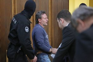 Róbert Lališ (prezývaný Kýbel) na pojednávaní v Ústave na výkon väzby v Banskej Bystrici 21. januára 2016.