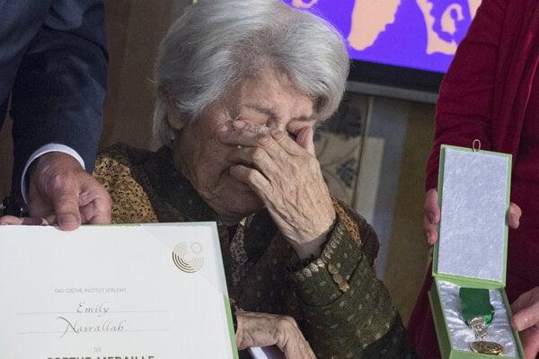 Emily Nasrallahová v roku 2017 získala aj nemeckú Goetheho medailu.