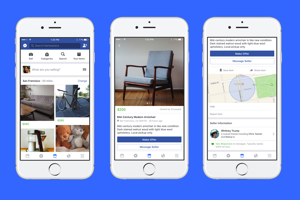 Marketplace - online bazár Facebooku.