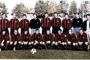 V sezóne 1970/1971 zdolali Spartakovci vo finále pohára Slovan. Horný rad zľava: Púchly, Kuna, Jarábek, Majerník, Geryk, Juska, Valentovič, Adamek, Keketi. Tréner V. Švec. Dolný rad zľava: Varadin, Dobiáš, Hagara, Fandel, Martinkovič, Hrušecký, Bôžik, Masrna, Kabát.
