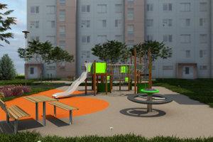 Na sídlisku budú detské preliezačky, lavičky aj fitness prístroje na cvičenie.