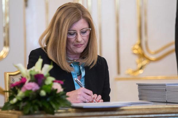 Ministerka pôdohospodárstva a rozvoja vidieka SR Gabriela Matečná.