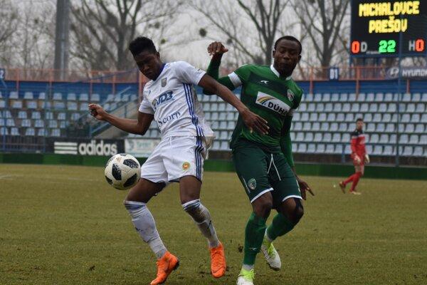 Ghanský útočník Sadam Sulley strelil michalovský gól
