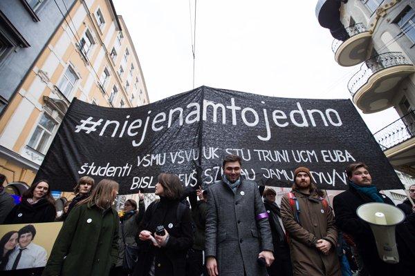 Protest v Bratislave, ktorý sa konal 23. marca 2018.