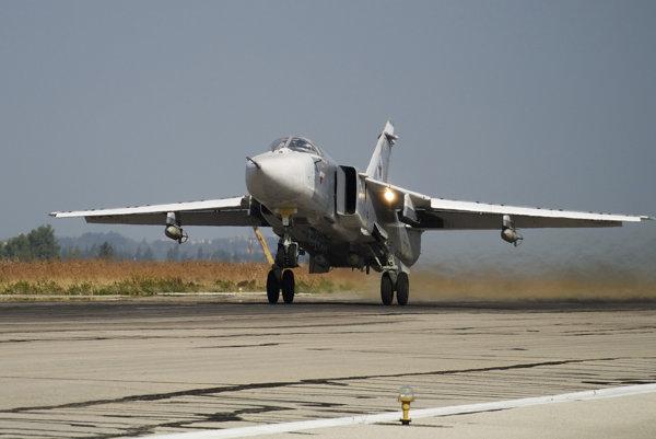 Ruské lietadlo SU-24.