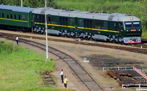 Obrnený vlak severokórejského lídra.