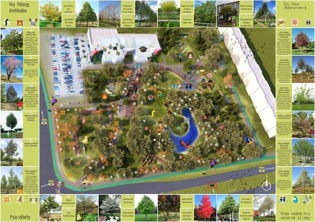 Mapa budúceho nového parku.