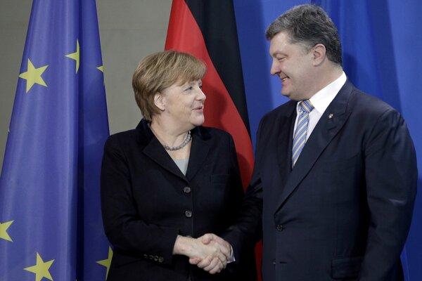 Telefonát prišiel deň po tom, ako sa Merkelová stretla s Petrom Porošenkom.