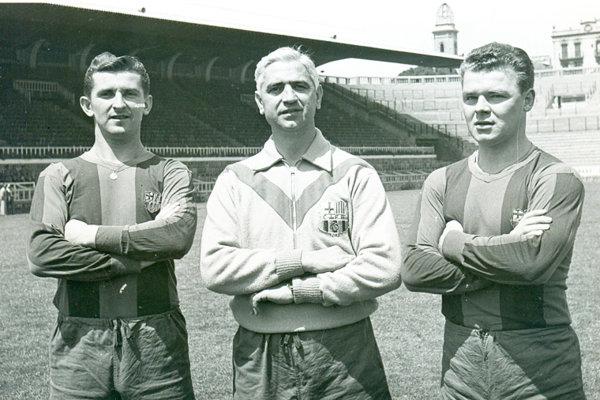 Ferdinand Daučík (v strede) - bývalý tréner slávnej Barcelony.