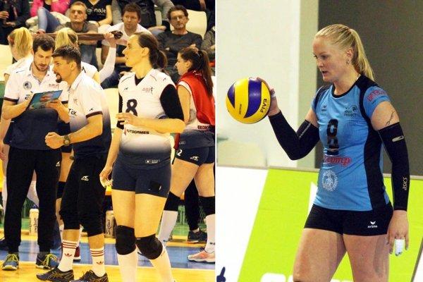 Do finále ide Slávia EU, nie UKF Nitra. Vľavo s číslom 8 Terézia Widerman, vpravo Martina Konečná.