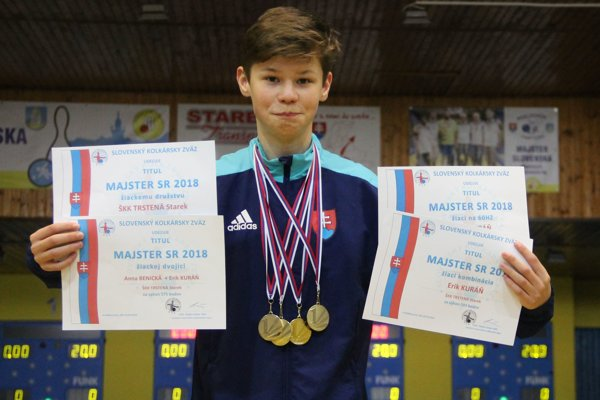 Erik Kuráň získal štyri zlaté medaily.