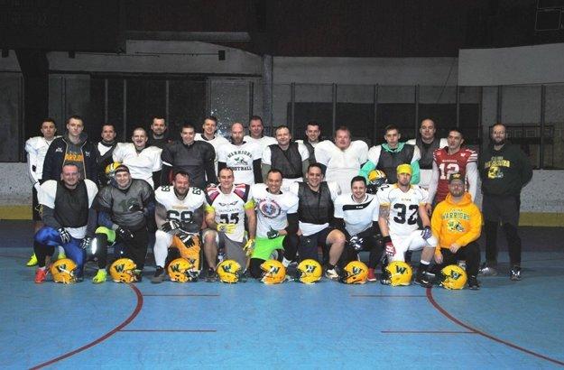 Mužstvo Žilina Warriors počas zimnej prípravy.