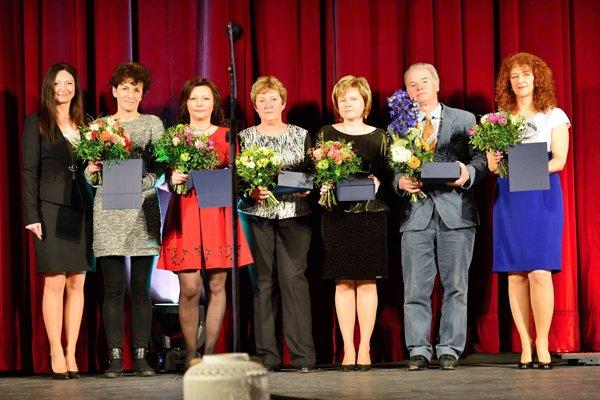 Ocenení pedagógovia.