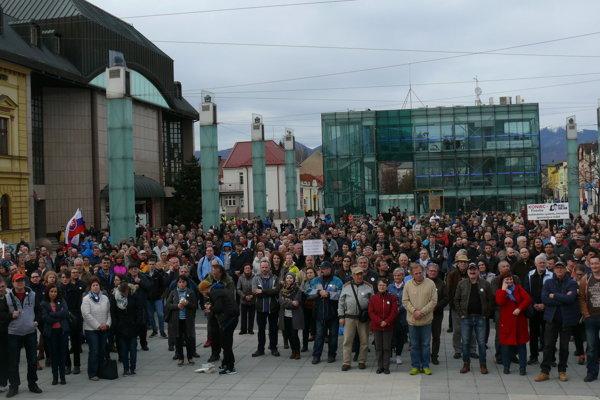 Piate protestné zhromaždenie v Martine.