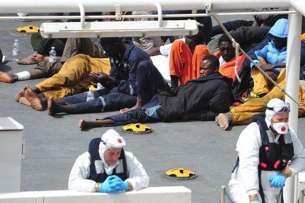 Migranti na Malte.