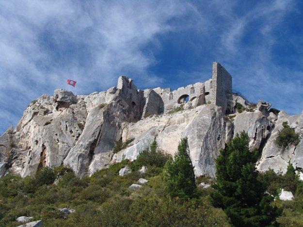 Pevnosť v Les Baux-de-Provence