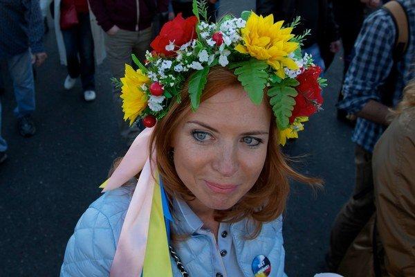 Moskovský protest proti vojne.