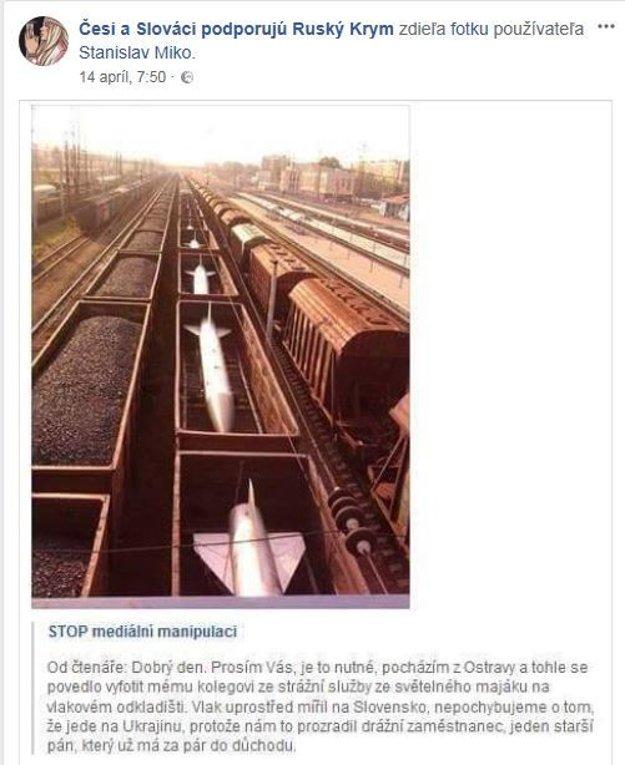 Obrázok vznikol v Jekaterinburgu. Text, ktorý šíria dezinformačné stránky, klame.