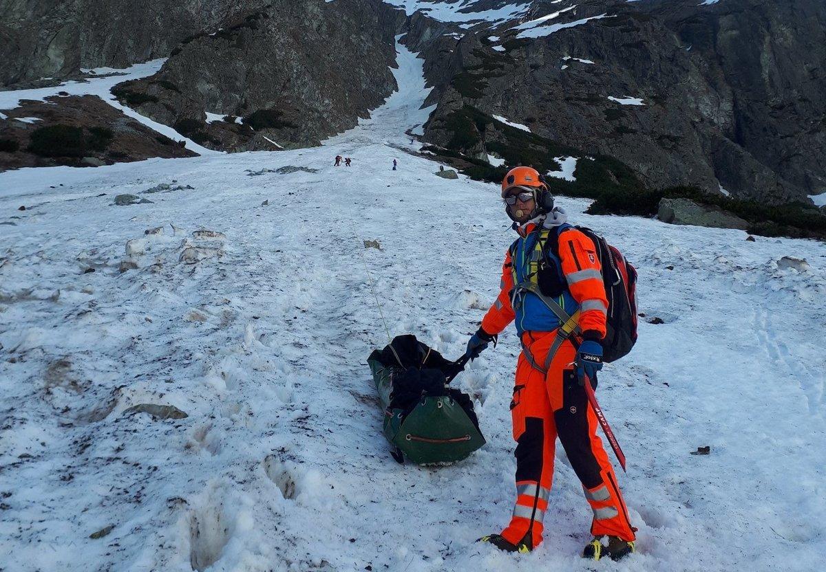 a2c37a2d77 Skialpinista zahynul v Tatrách po 300 metrov dlhom páde - Korzár SME