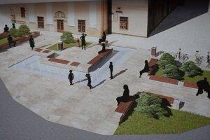Vizualizácia fontány v Kežmarku.