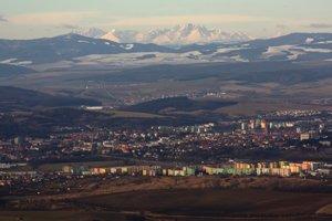 Prešov pod Tatrami - pohľad z Oltárov.