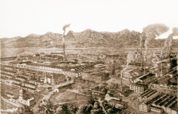 Fabrika okolo roku 1870.