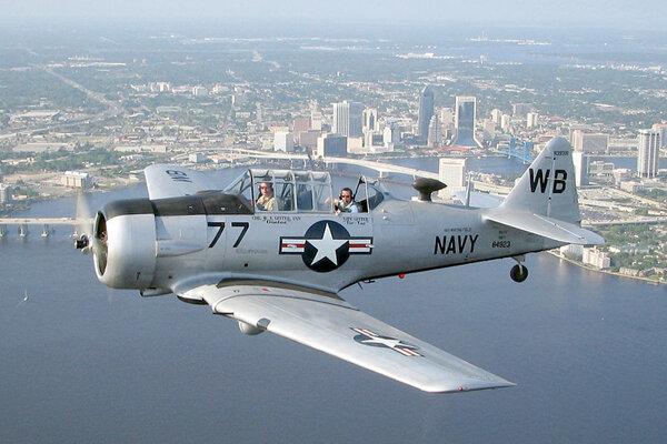 Historické lietadlo T-9 Texan (ilustračné foto).