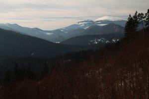 Kráľovu hoľu je z Havranej skaly vidieť len zo západnej časti masívu.