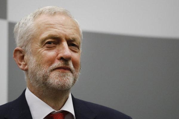 Vodca britskej Labouristickej strany Jeremy Corbyn.