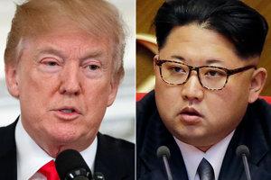 Americký prezident Donald Trump (vľavo) a a líder KĽDR Kim Čong-un.