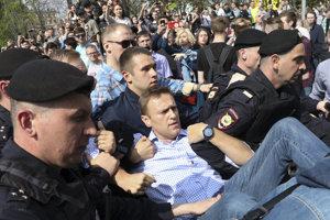 Ruská polícia zadržala Alexeja Navaľného.
