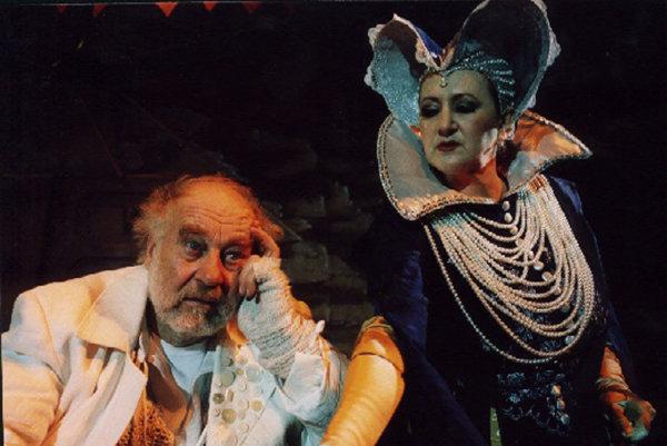 Leopold Haverl s herečkou Gabrielou Dolnou v muzikáli DAB Adam Šangala.