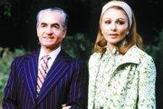 Šach Muhammad Rezá Pahlaví a jeho manželka Fára.