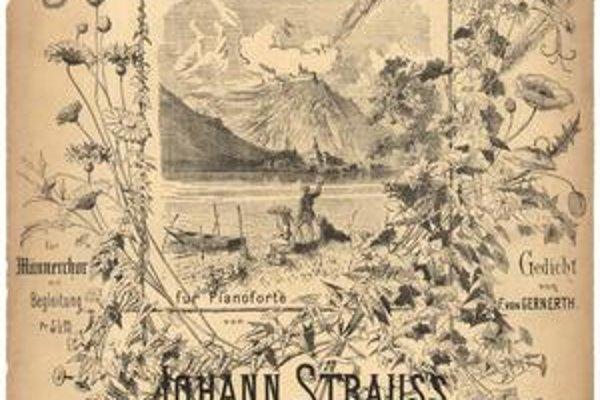 Plagát pozývajúci na Straussov valčík.