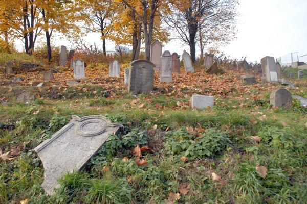 Židovský cintorín. Pochovaná je tam matka umelca Horovitza.