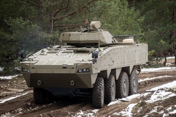 Prototyp slovensko-fínskeho obrneného transportéra nedávno prešiel vojskovými skúškami.