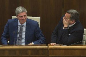 9. máj 2017. Bugár a Danko v parlamente.